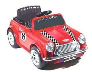 Red Racing Mini Cooper 6V Ride on Car Battery Operated~ BRAND NEW