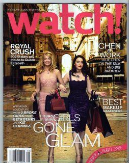 WATCH MAGAZINE AUGUST 2012 BETH BEHRS KAT DENNINGS 90210 JULIE CHEN 2