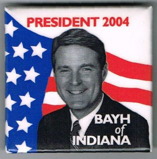 2004 Evan Bayh for President Pin Political Pinback Button C167