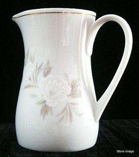 Vtg Noritake China Belda White Flowers Cream Pitcher Creamer Gold Trim