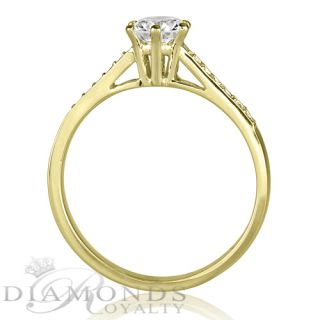 Real Brilliant 0 62 Carat Diamond White Gold 18K Promise Ring