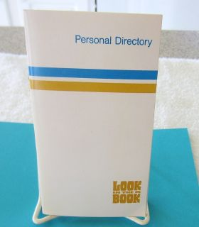 Michigan Bell Telephone Personal Directory Look in The Book 1970 80s