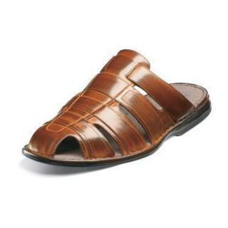 Stacy Adams Bayley Mens Cognac Slip on Fisherman Sandal