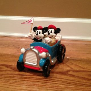Disney Schmid Mickey & Minnie Mouse Music Box Car Yes Sir Thats My