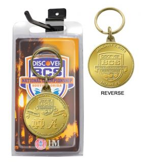 2013 BCS National Championship Game Bronze Coin Keychain   Alabama vs