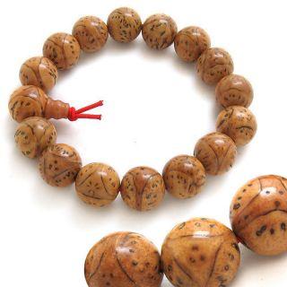 Old Dragon Eye Bodhi Seed Buddhist Prayer Beads Mala Bracelet