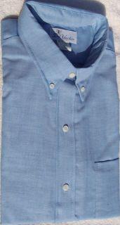 Dress Shirts Men Long Sleeve Button Down Collar Light Blue Big Tall