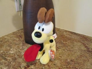 Retired Ty Beanie Baby Odie from The Garfield Collection Babies Babie