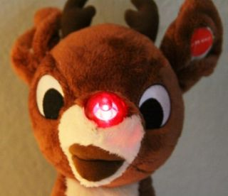 Build A Bear Workshop Rudolph The Red Nosed Reindeer Plush Nose Lights