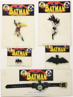 Batman 1966 Jewelry Robin Bat Symbol Compass Ring x5 Set