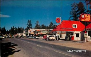 BIG BEAR LAKE, CALIFORNIA Big Bear Lake 76 Street Scene POSTCARD