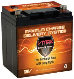 VMAX800 Electra Caddie AGM 28AH 12V Golf Cart Battery Vmaxtanks