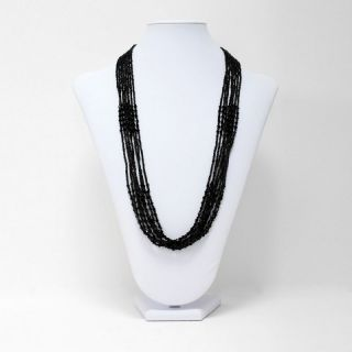 Fashion Jewelry Black Multi Strand Seed Beaded Necklace