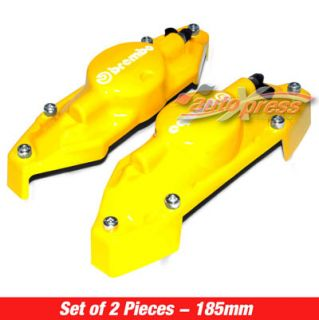 Brembo Style Brake Caliper Covers Rear Yellow Small 2pc