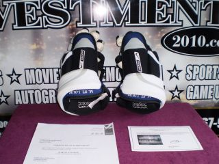 Martin St Louis Tampa Bay Lightning Game Used Hockey Gloves with COA