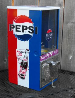 Vintage Toy N Joy Pepsi Cooler Themed Vending Machine Gumball Restored