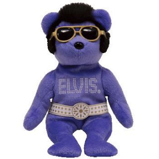 TY ELVIS BEANIE HAWAII the BEAR BEANIE BABY MINT with MINT TAGS