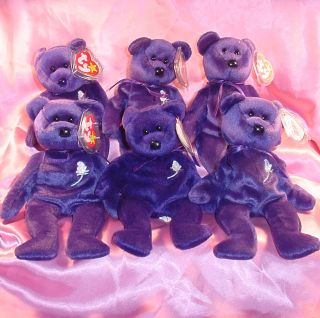 Ty Princess Diana 1st Edition Beanie Babies 1997 RARE