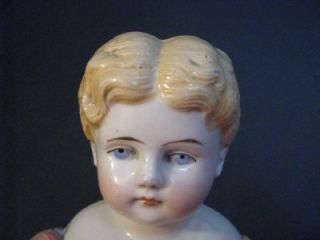 German Alt Beck Gottschalck abg 1880 Boy China Doll Blond Hair Blue