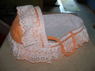 Handcrafted Baby Doll Bed Carry Style Fits 15 Bitty Baby Twin