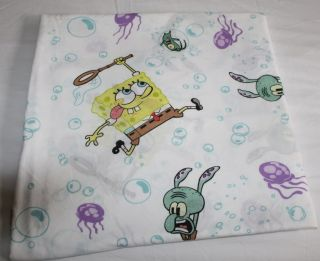 Spongebob Squarepants Twin Flat Sheet Bedding Fabric Material