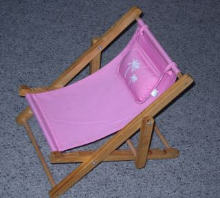Build A Bear Workshop Pink Beach Lounge Chair with Attached Pillow