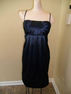 BCBG Paris Womens Sz 10 Dress NWT $138 Blue Satin Halter Stunning Year
