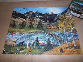 Jane Wooster Scott Jigsaw Puzzle Eager Beavers Fishing Deer
