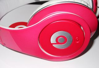 High Definition Monster Beats by Dre Studio Headphones Pink White