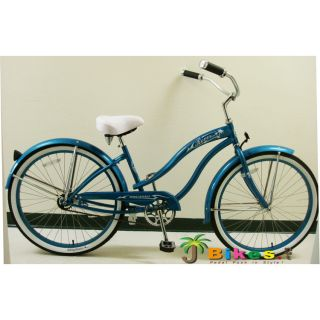 Beach Cruiser Bicycle Bike Micargi Rover GX 26 Womens Turquoise with