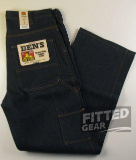 Ben Davis Mens Heavy Duty Working Logger Jeans Indigo Blue Denim