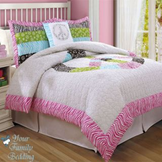 Sign Zebra Print Girl Teen Comforter Bedding Twin Full Queen
