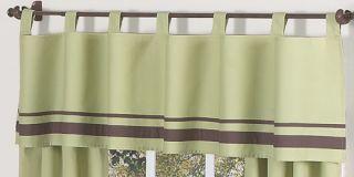 Contemporary Green and Brown Baby Boy Crib Bedding Set