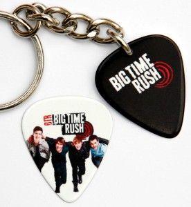Big Time Rush Guitar Pick Keyring Matching 2 Sided Pick