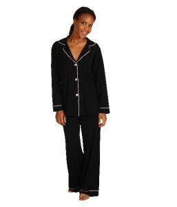 BedHead Stretch Knit Classic PJ Set~XS,S,M,L,XL~Black ~Ultimate Sleep