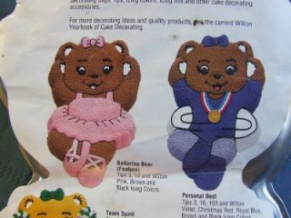 Wilton Cake Pan Mold Ballerina Bear 2105 2021 Dancer Gymnastic