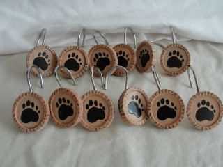 SHOWER CURTAIN HOOKS   BEAR CLAWS   CABIN RUSTIC