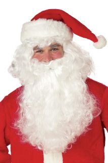 SANTA CLAUS WHITE Christmas Costume Beard & Wig