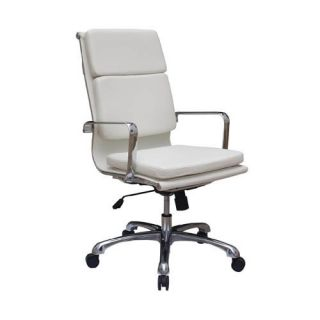 Destra High Back Leather Soft Pad Office Chair White