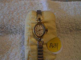 Caravell Vintage Ladies 17 Jewel Running Wristwatch B631