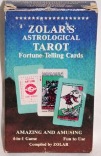 1983 Zolars Astrological Tarot Fortune Telling Cards