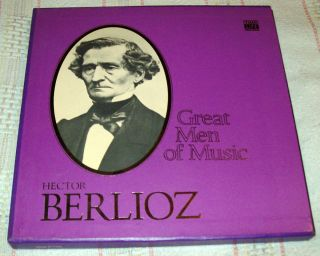 Time Life Great Men of Music Hector Berlioz 4 Record Set