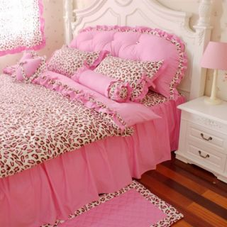 Pink Leopard Bedding Set Bed in A Bag Girls Bedding Sets Twin Queen in