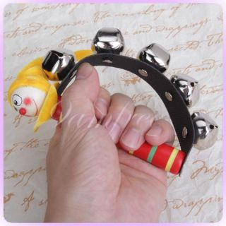 Jingle Percussion Sleigh Hand Bells Tambourine Kid Party Toy Musical