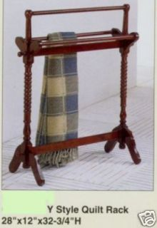 Quilt Rack Towel Rack Free Standing Cherry Stained Nice