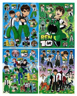 Ben 10 Alien Removable Wall Window Stickers 4 Sheet