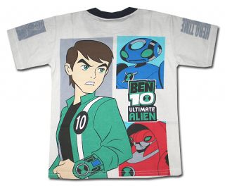 Ben 10 New Ultimate Alien Gray Boy Kid T Shirt Size 12 Age 7 8 GE13