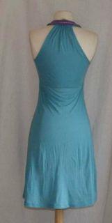 Rebecca Beeson Blue Babydoll Dress 2 XS Cotton Stretch