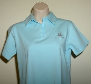 Bertram Yacht Sport Fishing Boat Devon Jones Polo Shirt Aqua Small