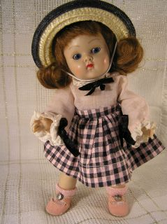 Vogue GINNY DOLL Strung BERYL w Tags Oil Cloth Shoes Lambskin Wig